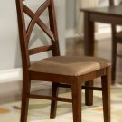 Set of 4 Lisbon chairs dining room chairs with wood seat or cushion seat mahogany finish.