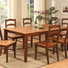 "7-Pc Rectangular Dining Set Table & 6 Chairs Set- 42""X72""- in Espresso & Cinnamon SKU: H7-BRN-W"