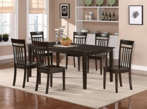7-PC HUDSON Rectangular Dining Set Table & 6 Chairs Set- 42�X72�- in Cappuccino SKU: HS7-CAPP