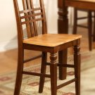 Set of 2  Logan counter height stools with wood seat in Espresso & Cinamon finish.