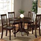 3-PC Antique Round Dinette Kitchen Table Set-Capuccinno Color.  SKU:  AN3-CAP