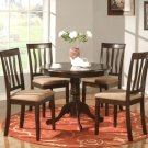 3-PC Antique Round Dinette Kitchen Table Set-Capuccinno Color.  SKU:  AN3-CAP