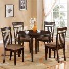 """Bosca 3-PC Contemporary Round Dinette  42"""" Table  Set in Cappuccino.   SKU: BC3-CAP-C"""