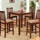 3-Piece Vernon Square Pub Table Set with 3 stools- in Mahogany Finish.  SKU: VN3-MAH