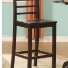 Set of 3 Lily wood seat Pub Bar Stool - Cappuccino Finish.SKU: LILY-CAP