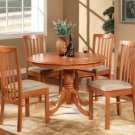 "Hartland Dinette Kitchen Table 42"" diameter Round Table. Light Cherry Finish. SKU:HL-T-CH20"