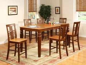"Logan Elegantly-designed Counter Height Set with 18"" Leaf--   SKU: LG12-T-ESP&CI"