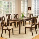 "Canton dining table set-40""x78""with 18"" extension leaf. Espresso color. SKU: CA-T-ESP"