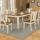 "Canton dining table set-40""x78""with 18"" extension leaf. Buttermilk& Cherry color. SKU: CA-T-ESP"