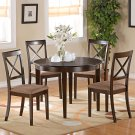 "Contemporary Round Dinette  42"" Table  Set in Cappuccino.   SKU: BT-CAP-C"