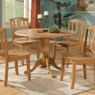 "Dublin dinette kitchen  42"" diameter round table in Oak Finish. No chairs included   SKU: DT-OAK"