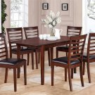 "Picasso 7-PC Rectangular Dinette Dining Table Set-32""x 60"" with 12""extension leaf.  SKU: PS7-MAH-LC"