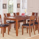 "Lynfield 7-PC Rectangular Dinette Dining Set in Espresso -Table Size 36""x54""/60"". SKU: LY7-WC-ESP"