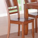 2 LYNFIELD DINING ROOM KITCHEN DINETTE CHAIR WITH FAUX LEATHER UPHOLSTERED SEAT SKU: LY-LC2-ESP