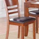 4 LYNFIELD DINING ROOM KITCHEN DINETTE CHAIR WITH FAUX LEATHER UPHOLSTERED SEAT SKU: LY-LC4-ESP
