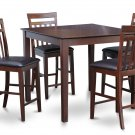 "East West 5-PC Square Pub Counter Height Table Dinette Set-Size: 42""x42"" in Mahogany.SKU: EW5-MAH-LC"
