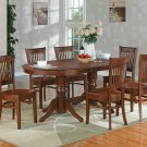 "7-PC Vancouver Oval  Dining Room Table Set-17"" extension leaf in Oak.  SKU:  V7-ESP-W"