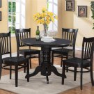 3 PC SHELTON 42 IN ROUND KITCHEN DINETTE TABLE & 2 CHAIRS IN BLACK SG3-BLK-W