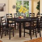 "Parfait 9-Pc Square Gathering Dining Table Set-54""x54""-Extension leaf . SKU: FL9-CAP-W"