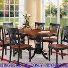 "Plainville Oval Dining Room Table  Size: 42""x60""/78"" . SKU: PVT-BLK-T"