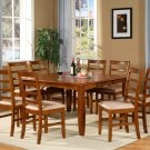 PARTFAIRT Square Dinette Dining Table 54 inX54 in 18 in Butterfly Leaf, Saddle Brown Color