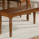 Vintage Dinette Dining Table Bench L48Xw15Xh18 Wood Seat,Dark Oak