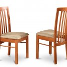 Set of 4 Hartland  dining room chairs  in Light Cherry finish.