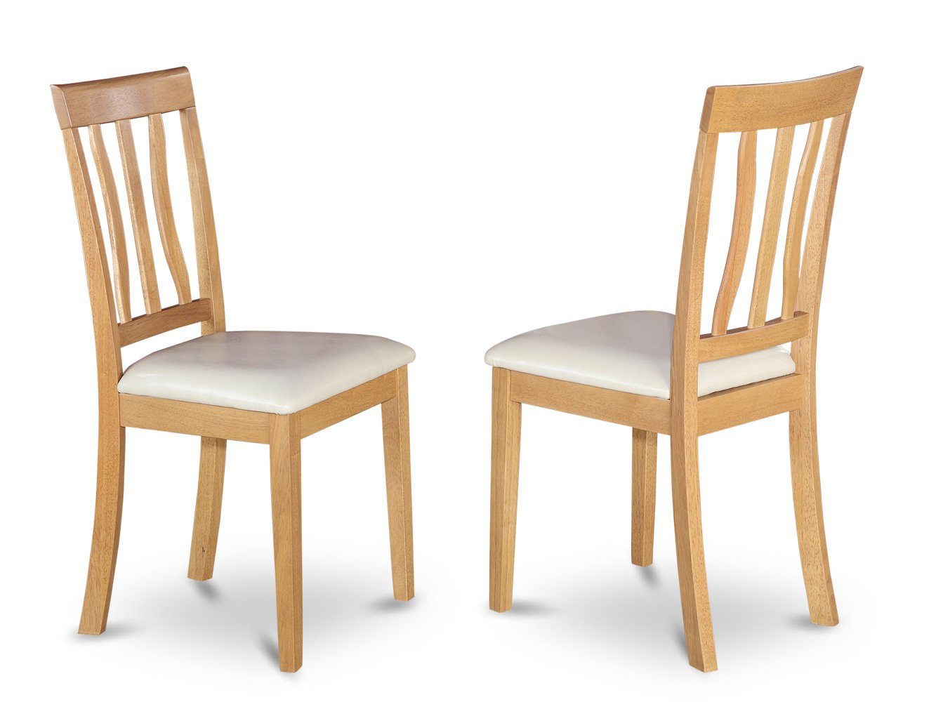 Set of 4 Antique dining room chairs seat in OAK finish.