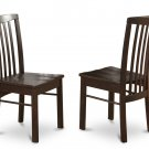 Set of 2 Hartland  dining room chairs in Black Walnut finish.