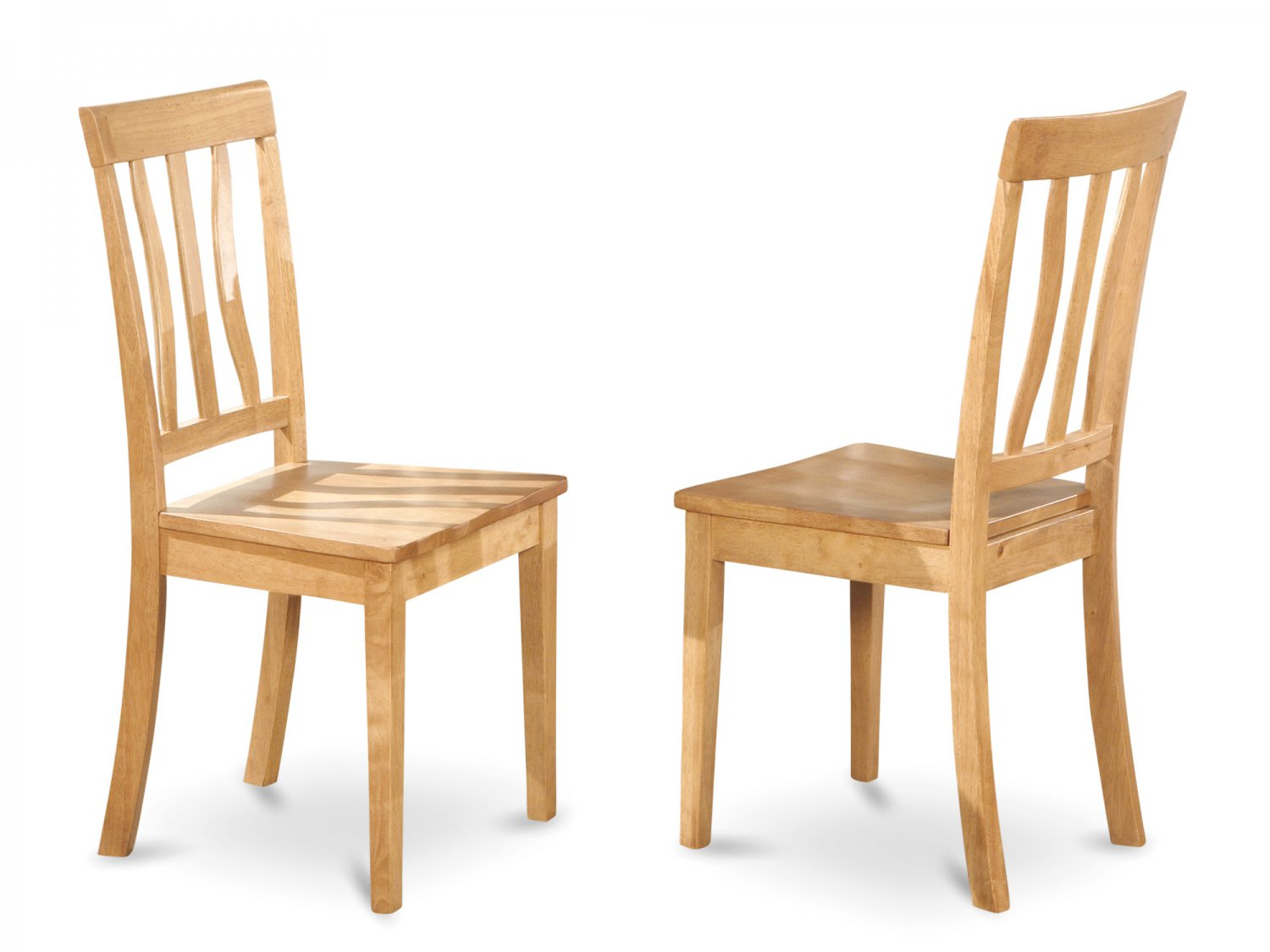 Set of 2 Antique  dining room chairs seat in OAK finish.