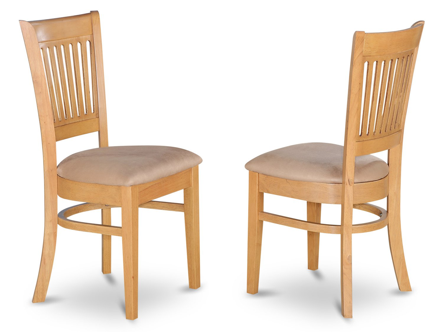 Set of 2 vancouver dining room chairs with wood or cushion seat seat in oak finish - Cushioned dining room chairs ...