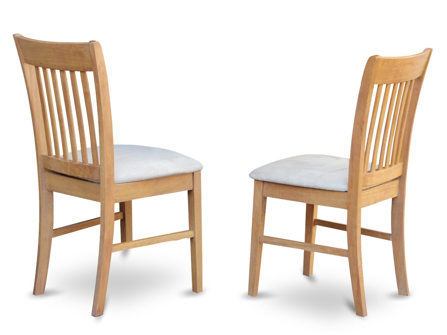 Set of 2 Norfolk  dining room chairs in Oal  finish.