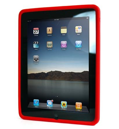 Kroo Silicone Skin Case for Apple iPad (Color: RED/11934)