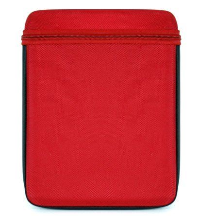 """Kroo ICAP Case fits up to 9"""" Tablets (Color: RED/11930)"""