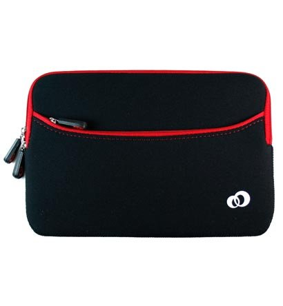 "Kroo Glove 2 Neoprene Sleeve Case fits up to 7"" eReader (Color: RED/11787)"
