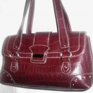 CRAZYHORSE FAUX CROC SHOULDER HANDBAG