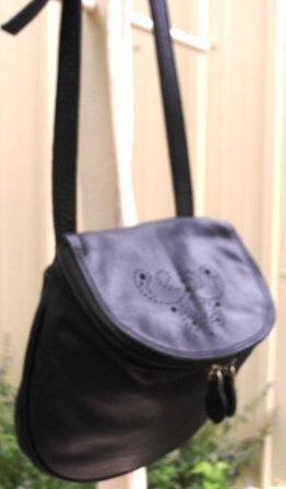 Inge Christopher Unique Leather Cross Body Bag, Black