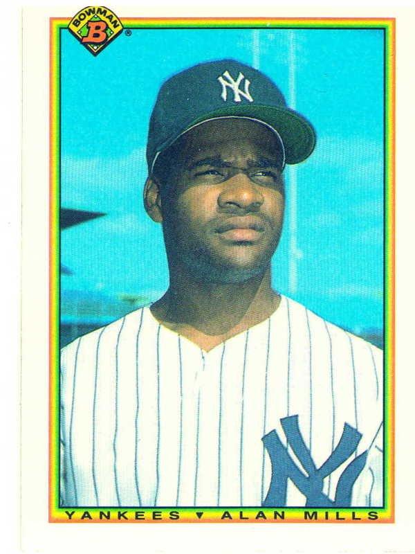 1990 Bowman Alan Mills Rookie Card