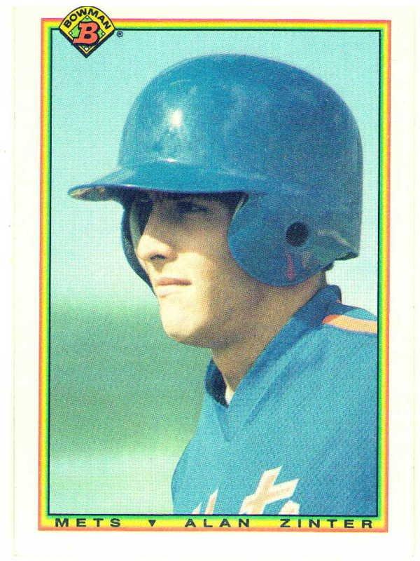 1990 Bowman Alan Zinter Rookie Card