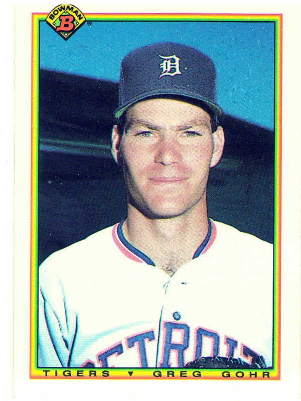 1990 Bowman Greg Gohr Rookie Card