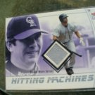 "2004 Ultra ""Hitting Machines"" Todd Helton Jersey Card"