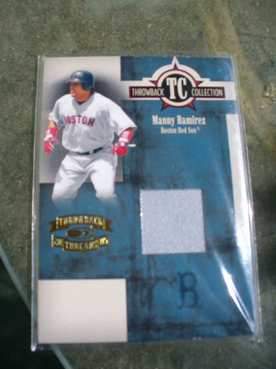 """2005 Throwback Collection """"Throwback Threads"""" Manny Ramirez Jersey"""