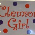 Clemson Girl Car Tag or (Your City) Girl