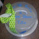 Small Personalized Cake/Pie Plates Keepers
