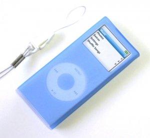 iPod Nano2 Silicone Case Skin for 2006 2nd Gen Nano Blue