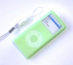 iPod Nano2 Silicone Case Skin for 2006 2nd Gen Nano Green