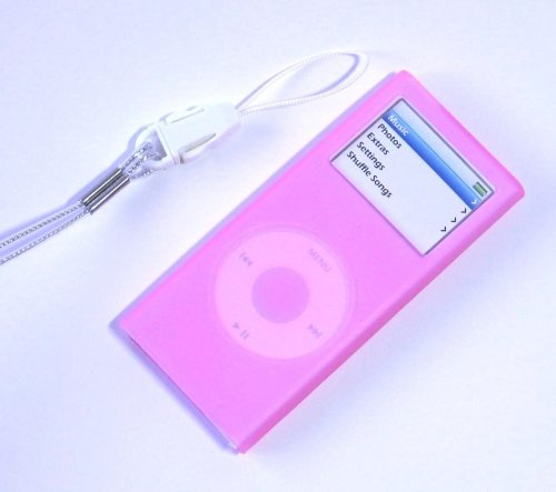 iPod Nano2 Silicone Case Skin for 2006 2nd Gen Nano (Pink)