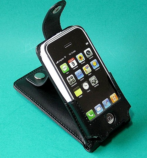 iPhone Leather Case with Belt Clip (Black) for Apple i phone