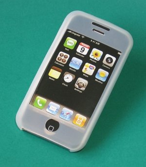 iPhone Silicone Case Skin (White)