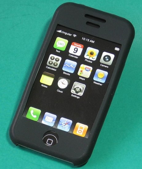 iPhone Silicone  Case Skin (Black)
